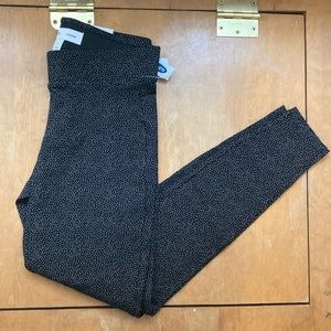 NWT Old Navy black leggings with small white dots
